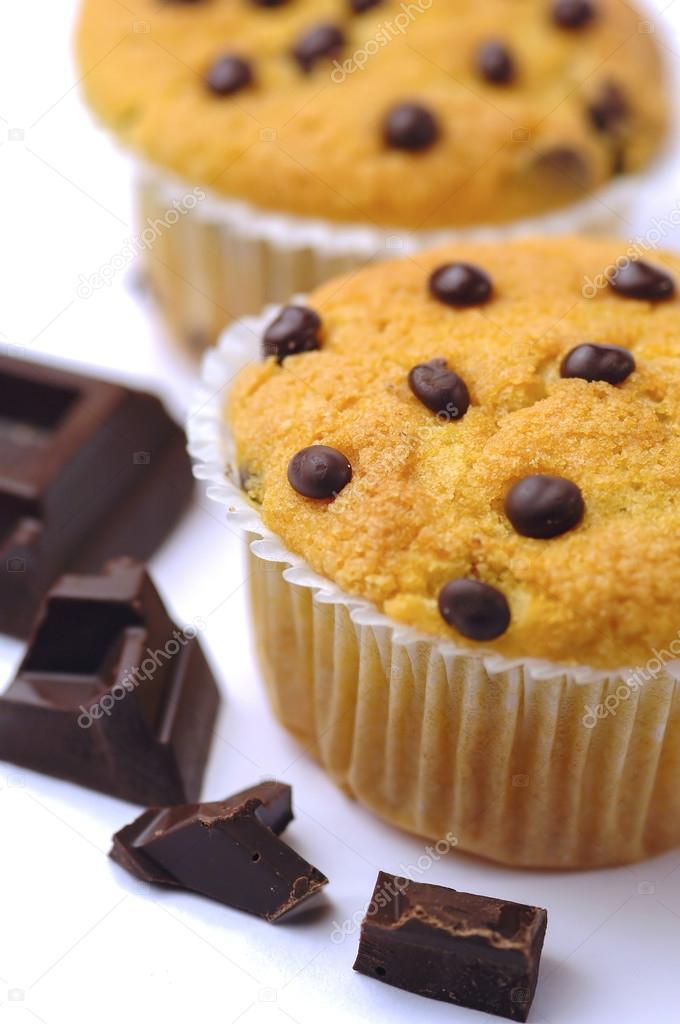 Кексы с шоколадными каплями рецепт с фото