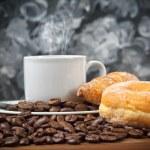 Breakfast  with espresso coffee — Stock Photo #76120153