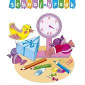 School-Break.Weighing of objects.Vector.Illustration — Stock Vector