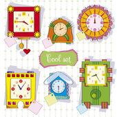 Bright set from clock.Illustration — Stock Vector