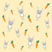 Rabbit and carrot — Stock Vector