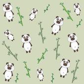 Panda and bamboo — Stock Vector