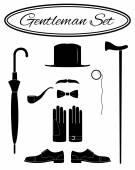 Gentleman icon set — Stockvektor