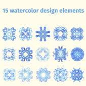 Akvarel design prvky — Stock vektor