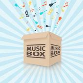 Cardboard music box — Stock Vector