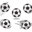 Soccer ball illustration eps 8. Football vector set. — Stock Vector #65311979
