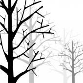 Forest Monotone — Stock Vector