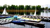 Boats in Danube  River — Stock Photo