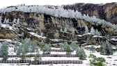 Scenery of Zermatt snow mountains  — Stock Photo
