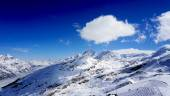 Snow alps mountains horizontal — Stock Photo