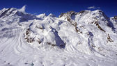 Snow alps mountains and blue sky cloud — Stock Photo