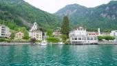 Landscape of Vitznau, Lucerne, — Stock Photo