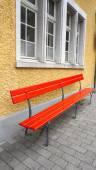 Seating area at Train station Vitznau — Stock Photo