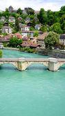 Scene of river on bridge in Bern — Stock Photo