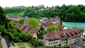 Scenery of old town city and river — Stock Photo