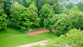 Sport field in the forest — Stock Photo