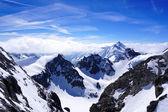 Valley of Titlis snow mountains — Stock Photo