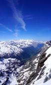Scene of snow mountains valley Titlis — Stock Photo