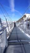 Suspended walkway snow mountains Titlis — Stock Photo