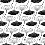 Gingko leaf sketch doodle set 2 pattern seamless — Stock Vector #75879701