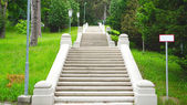 Garden and stair in the park — Stock Photo