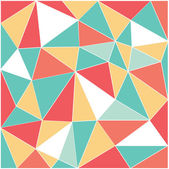 Mixed color low polygon with white line — Stock Vector