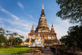 Beautiful temple in Ayutthaya. Thailand. — Stock Photo