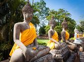 Vackra tempel i Ayutthaya. Thailand. — Stockfoto