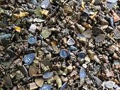 Various Types of Talisman Brass Thai Amulets — Stock Photo