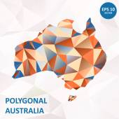 Vector poligonal Australia — Stockvector