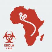 Vector africa and ebola virus — Stock Vector