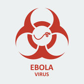Vector ebola virus and biohazard sign — Stock Vector