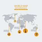 Vector world map ethnos. — Stock Vector