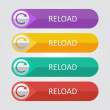 Reload Icon buttons set — Stock Vector #65689587