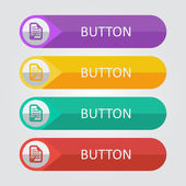 Document accept Icon buttons set — Stock Vector