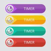 Timer Icon buttons set — Stock Vector
