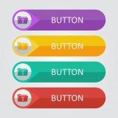 Folder lamp Icon buttons set — 图库矢量图片