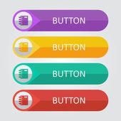 メモ帳のアイコンとボタン — ストックベクタ