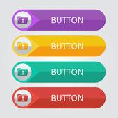 Ensemble de boutons de dossiers utilisateur icône — Vecteur