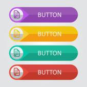 Document reject  Icon buttons set — Stock Vector