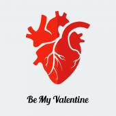 Human heart valentine  sign — Stockvektor
