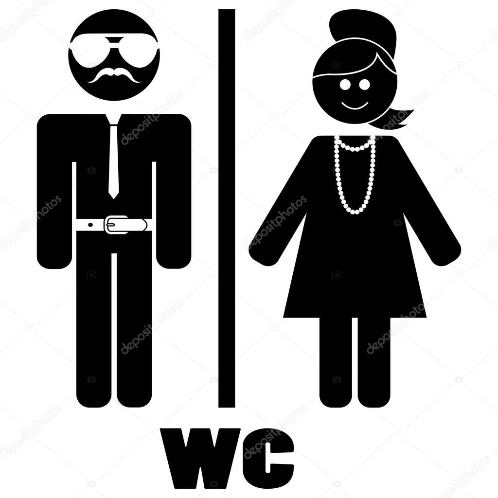 Handicap bathroom sign - Man And Woman Wc Sign Stock Vector 169 Familyf 65688297