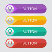 Female sign icons buttons — Stock Vector