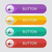 Pill icon buttons — Stock Vector