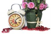 Watches and flower — Stock Photo