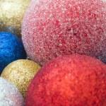 Multicolored Christmas toys closeup — Stock Photo #74797591