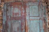 Wooden old door vintage background — Stock Photo