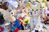 Knitted Cat handmade — Stok fotoğraf
