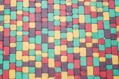 Colored brick — Stock Photo