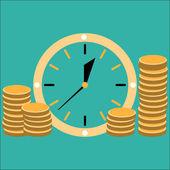 Time is money concept illlustration — Stok Vektör
